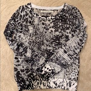 Black and white All Saints sheer top
